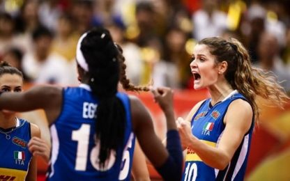 Mondiali volley: Italia-Giappone 3-2