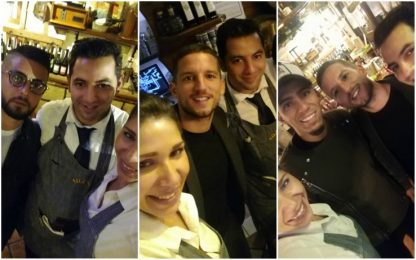 """Napoli, cena di gruppo: """"Lorenzo portaci a Madrid"""""""