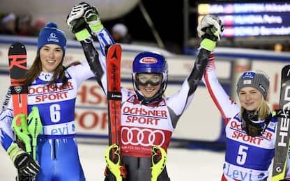 Slalom Levi, trionfo di Mikaela Shiffrin