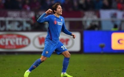 Chiesa manda la Fiorentina ai quarti, Toro ko 2-0