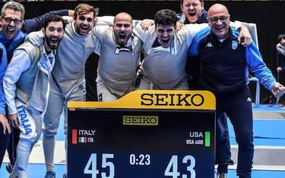 Scherma, Italia vince fioretto squadre a Tokyo
