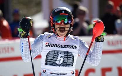Sci, Brignone vince la combinata a Crans Montana