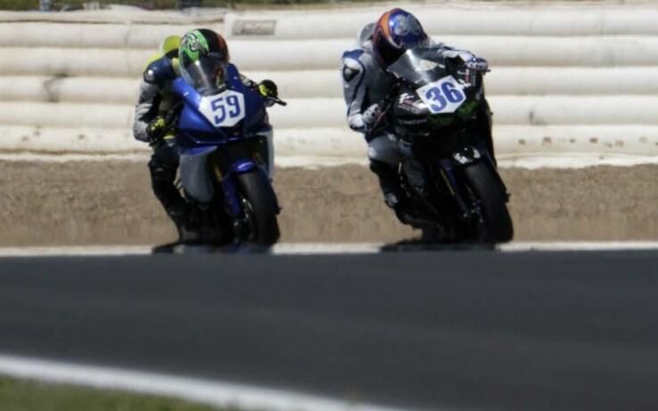 Marcos Garrido Beltrán con il numero 36 sul circuito di Jerez