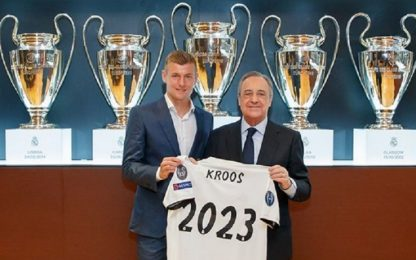 Real Madrid, Kroos rinnova fino al 2023