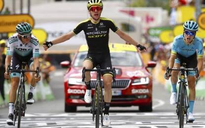Simon Yates vince 12^ tappa, Alaphilippe in giallo