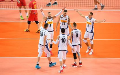 Europeo volley: Romania-Italia 1-3