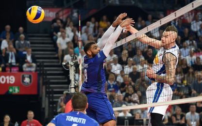 Europeo volley: Francia-Italia 3-1