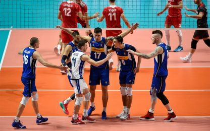 Europeo volley: Italia-Turchia 3-0