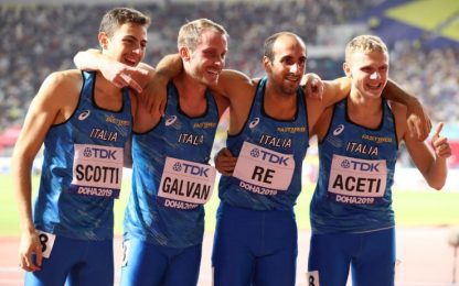 Doha 2019, Re trascina la 4x400 in finale