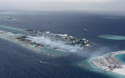 Un isola di plastica alle Maldive