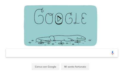 Il doodle per i 37 anni del Parco di Komodo e dei suoi varani
