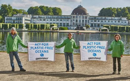 Greenpeace al G20 di Brema