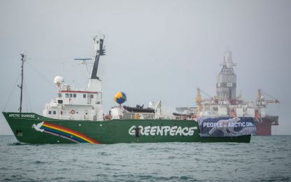 Greenpeace nelle acque norvegesi. FOTO