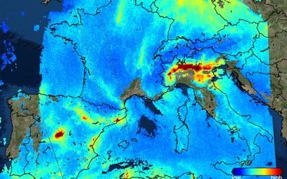Mappe dallo spazio, Pianura padana tra le aree più inquinate