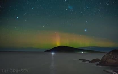 Tasmania, lo spettacolo dell'aurora australe in timelapse. VIDEO