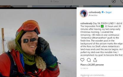 Antartide, 33enne americano completa traversata solitaria in 54 giorni