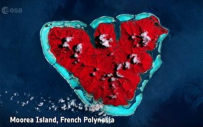 San Valentino, le immagini viste dallo Spazio: l'omaggio Esa. VIDEO