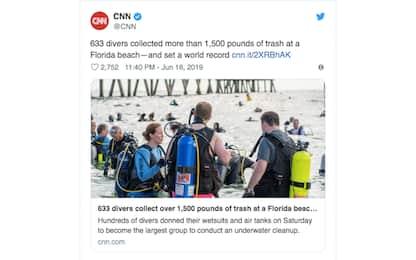 Usa, 633 sub hanno raccolto oltre 700 kg di spazzatura in mare