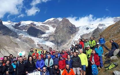 Monte Rosa, il funerale per il ghiacciaio agonizzante. FOTO