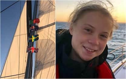 Greta Thunberg arriva a Lisbona in catamarano. FOTO