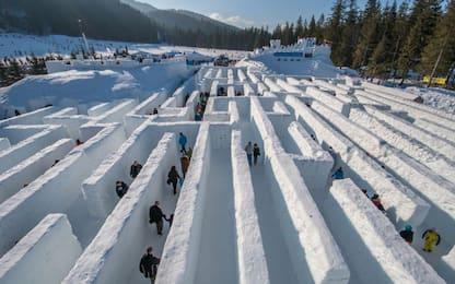 In Polonia il labirinto di ghiaccio da record. FOTO