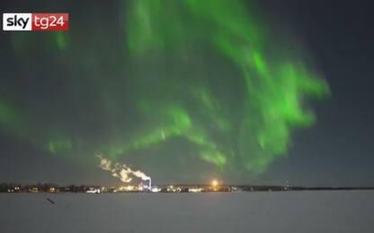 Aurora boreale in Finlandia, spettacolare danza di luci in cielo VIDEO