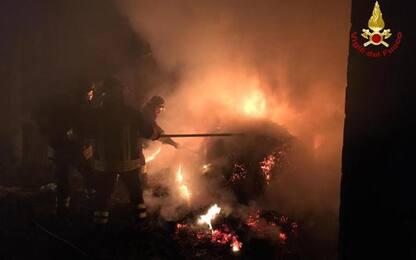 Incendi: a fuoco 300 rotoballe