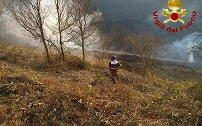 Incendio area Arquata T., spento da Vvf