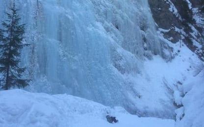 Cade da cascata di ghiaccio, è grave