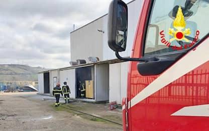 Incendio in azienda a Termoli