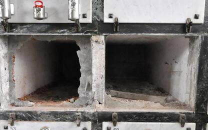 Sette bare con le spoglie sparite dal cimitero di Vibo Valentia