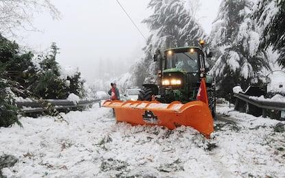 Maltempo, neve in Valtellina: allerta nelle aree colpite dalle frane