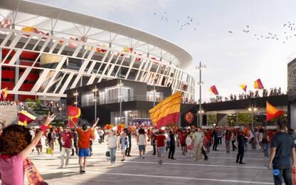 """Stadio Roma, Raggi: """"Progetto andrà in porto, c'è anche l'ok di Anac"""""""