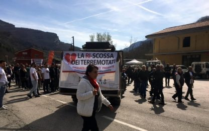 Manifestazione terremoto Arquata