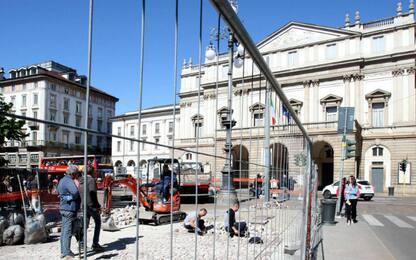 Milano, al via rifacimento della pavimentazione di Piazza della Scala