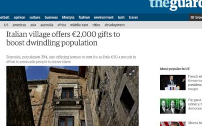 """Bormida cerca abitanti e offre 2000 euro. La storia sul """"Guardian"""""""