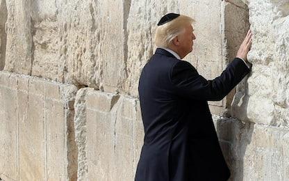 """Trump in Israele: """"Possiamo riportare la pace nella regione"""""""