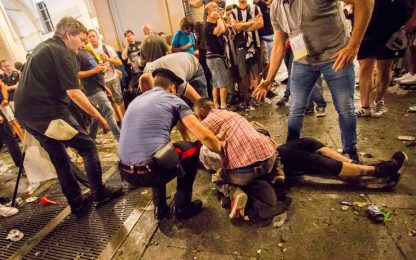 Torino, panico e feriti in piazza