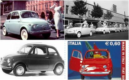 """La Fiat 500 compie 60 anni: le tappe della storia del """"Cinquino"""""""