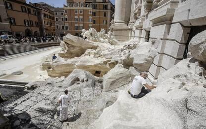 Fontana di Trevi, lavori di manutenzione