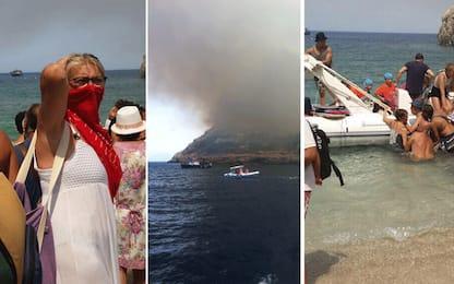 Sicilia in fiamme, 700 persone evacuate via mare a San Vito Lo Capo