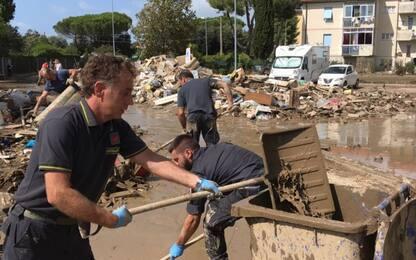 Alluvione Livorno, continuano le operazioni di soccorso. FOTO