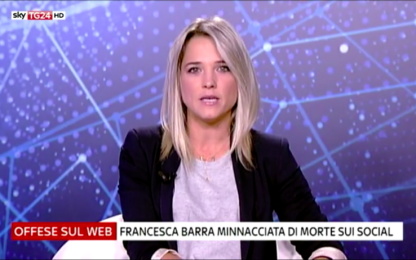 """Francesca Barra a Sky TG24: """"Minacciata di morte sui social"""""""