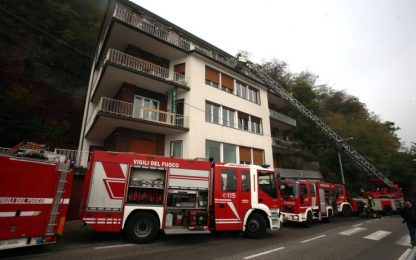 Incendio in appartamento a Como