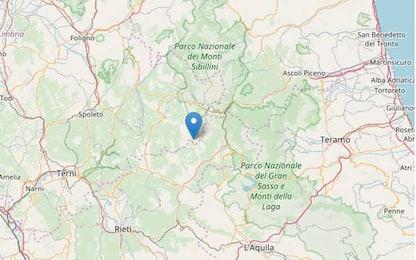 Terremoto in provincia di Rieti, scossa di magnitudo 3.7