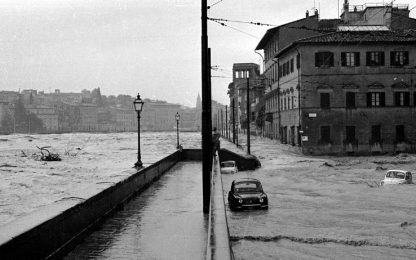 Firenze, 53 anni fa l'alluvione
