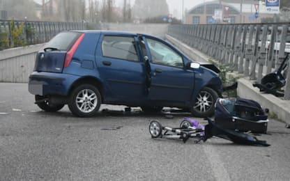 Auto contro guardrail a Monza: muore neonato, gravi i genitori