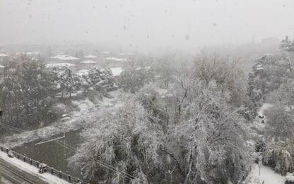 Prima neve in Emilia e Veneto