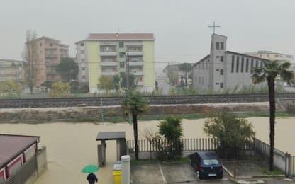 Maltempo, forti piogge e fiumi in piena: danni in Abruzzo