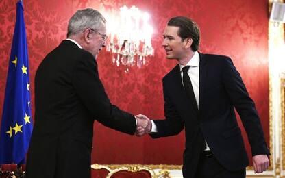 Austria, ecco il nuovo governo. Alla destra Interni, Difesa e Esteri